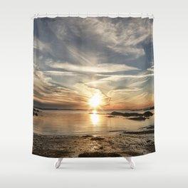Plumcove Sun pillar Shower Curtain