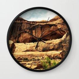 Red Wall Moab Utah Wall Clock