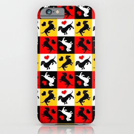 Dachshunds and Hearts Lucky Dog iPhone Case