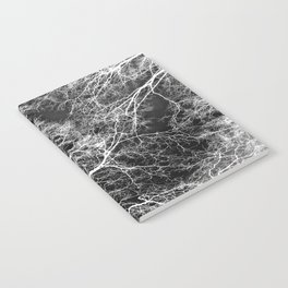 White on Black Trees Notebook