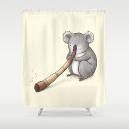 Koala Playing the Didgeridoo Shower Curtain