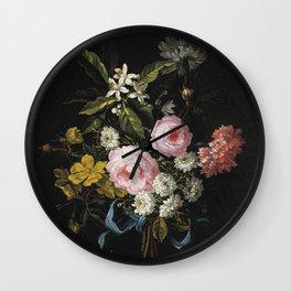 Jean Baptiste Monnoyer - A Bouquet Of Chamomile  Wall Clock