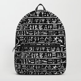Egyptian Hieroglyphics // Black Backpack