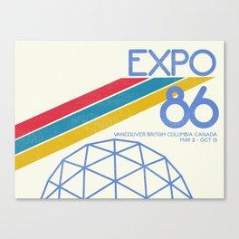 Retro Expo '86 Canvas Print