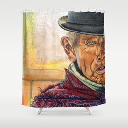 Abstract Man Shower Curtain
