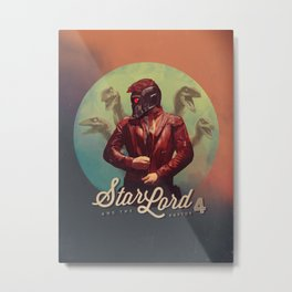 Star Lord and the Raptor 4 Metal Print