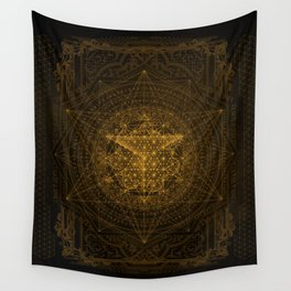 Dark Matter - Gold - By Aeonic Art Wall Tapestry