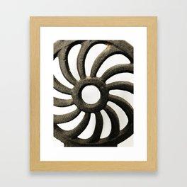 Vertigo ironworks in the round Framed Art Print