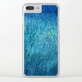 Night in the flower meadow Clear iPhone Case