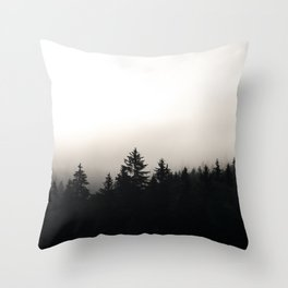 the cloudy pines Throw Pillow
