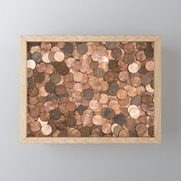 Pennies for your thoughts Framed Mini Art Print