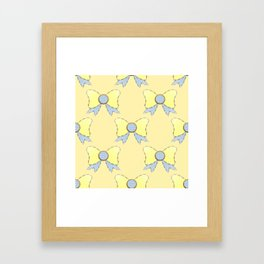 Sky Blue and Daisy Yellow Bows 2  Framed Art Print