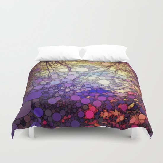 Woodland Abstract Duvet Cover