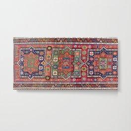 Kuba Sumakh East Caucasus Antique Rug Metal Print