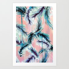 Pink tropical haze Art Print