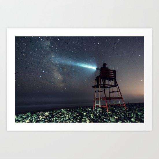 Lifeguard to the Stars Art Print