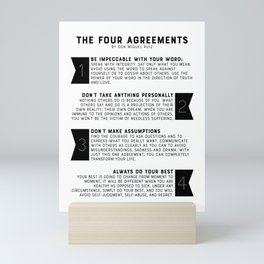 The Four Agreements by don Miguel Ruiz Mini Art Print