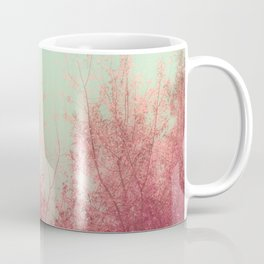 Harmony (Mint Blue Sky, Coral Pink Plants) Coffee Mug