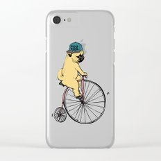 Pug Ride Clear iPhone Case