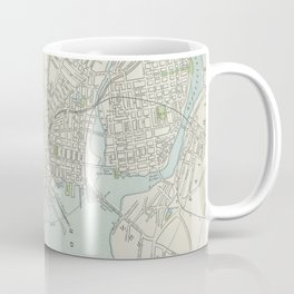 Vintage Map of New Haven Connecticut (1901) Coffee Mug