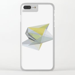 POLYTOPE OCHRE Clear iPhone Case
