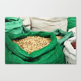 Pumpkin Seeds at the Market Canvas Print