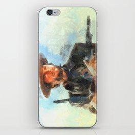 Portrait of Clint Eastwood iPhone Skin