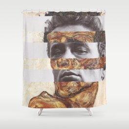 Egon Schiele's Self Portrait with Bare Shoulder & James D. Shower Curtain