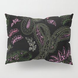 Pink Roses in Anzures 1 Paisley 1 Pillow Sham
