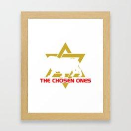 Star of david hebrew israelite yahwehs shirt Framed Art Print