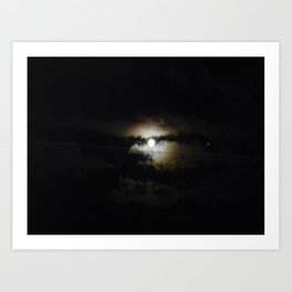 creepy night Art Print