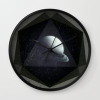 gem Wall Clocks featuring Dark Gem by DuckyB
