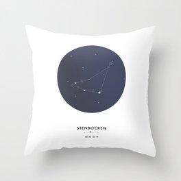 Horoscope: Stenbocken Throw Pillow