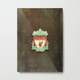 FC Liverpool metal background Metal Print