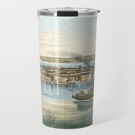 Vintage Panoramic Map of NYC (1844) Travel Mug