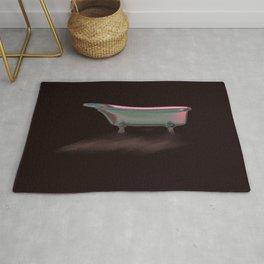 Art Deco Retro Style Claw Foot Bathtub// Wall Paper Rug