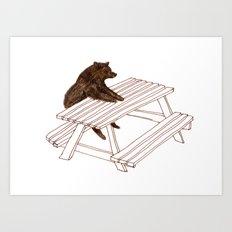 Picnic Bear Art Print