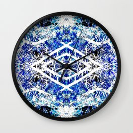Distorted Nature in Blue Wall Clock