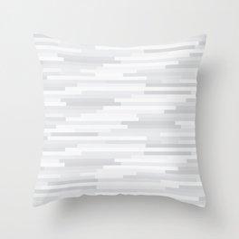 White Estival Mirage Throw Pillow