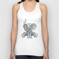 baby elephant Tank Tops featuring Baby Elephant by Beryl Kruger