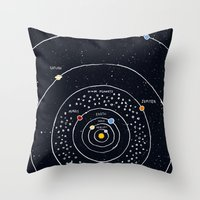 solar system Throw Pillows featuring Solar system by James White