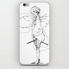 Pedigree - Black and White Drawing  iPhone Skin