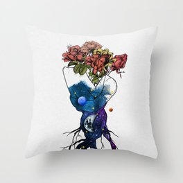 Roots of love. Throw Pillow