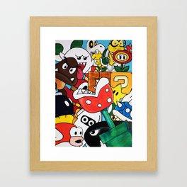 Super Mario Bros Framed Art Print