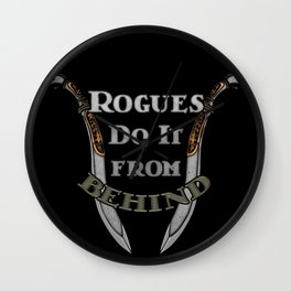 D&D - Rogues Do It Wall Clock
