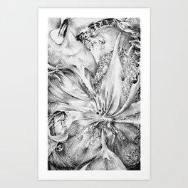 flowering ink Art Print
