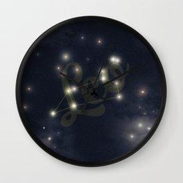 Leo Constellation - Zodiac Wall Clock