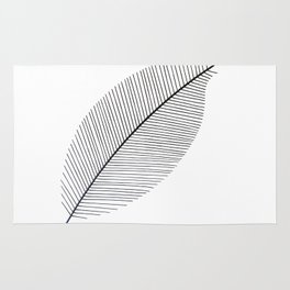 Leaf minimalism decor | black and white minimalism | Magnolia inspired designs Rug