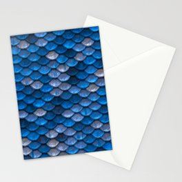 Mermaid Blues Scales Stationery Cards