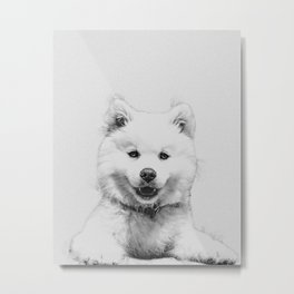 Minimalist Dog Metal Print